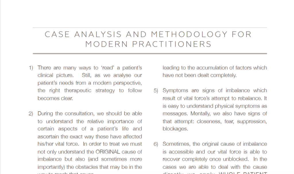 Case Analysis and methodology for modern practitioners